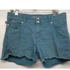 Rock and Republic green cut off shorts
